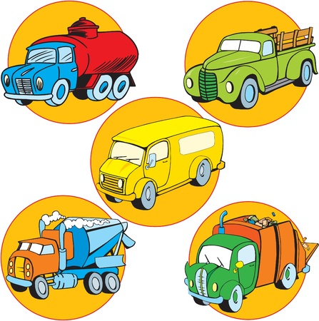 A picture of some utility vehicles