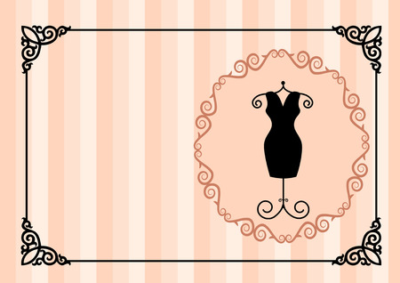 visiting card: The illustration shows the visiting card for women\