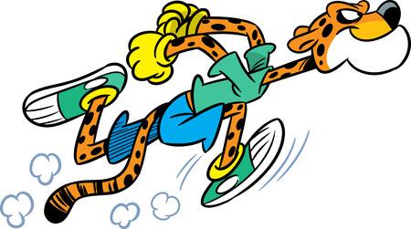 De afbeelding toont de cheetah, die sport running bezighoudt.