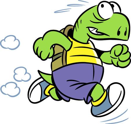 tortuga: La ilustraci�n muestra la tortuga, que se ocupa de los deportes en ejecuci�n.
