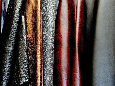 origen animal: La foto muestra a varias especies el fondo con textura y patrones de piel natural de origen animal Foto de archivo