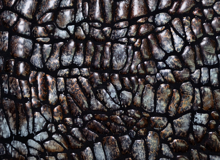 animal origin: The photo shows the original brown texture of natural skin of animal origin