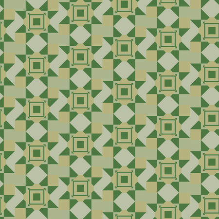 muster: verdant seamless geometric pattern in khaki
