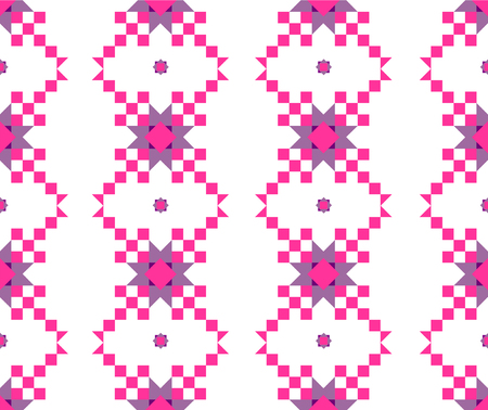 muster: seamless geometric pattern in pink and lilac shades
