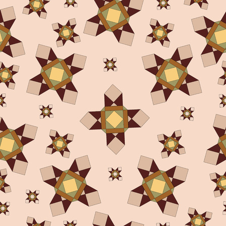 muster: seamless geometric pattern in brown and beige colors