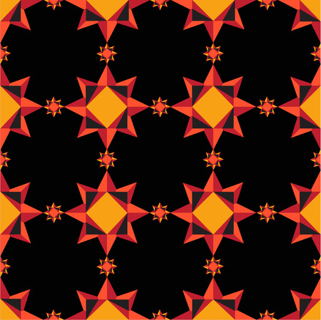 muster: geometric seamless red pattern on a black background