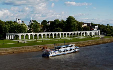 volkhov: view of the embankment of Volkhov