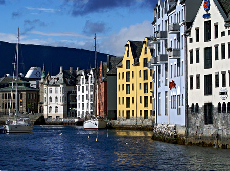 alesund: House in the waterfront city of Alesund