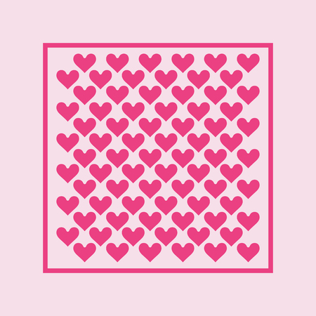 Hearts background - pattern vector - hearts - st. valentine - Hearts wallpaper 写真素材 - 116290683