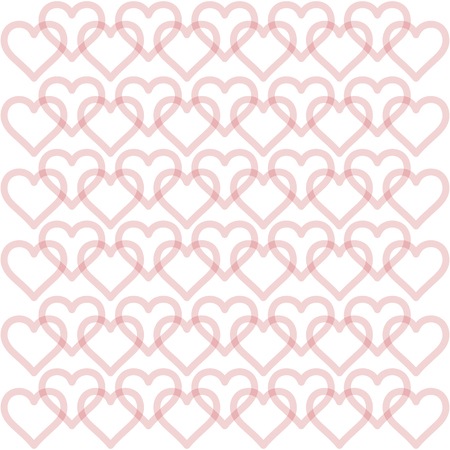 Hearts background - pattern vector - hearts - st. valentine - Hearts wallpaper  イラスト・ベクター素材