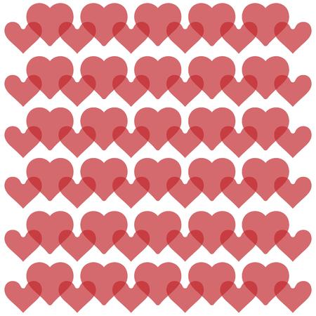 Hearts background - pattern vector - hearts - st. valentine - Hearts wallpaper Ilustracja
