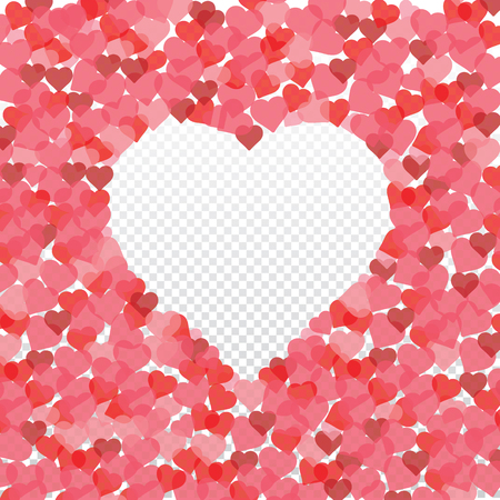 Heart background vector pattern - St Valentines day illustration repeating hearts popular love heart decor inspiration idea 写真素材 - 117527045