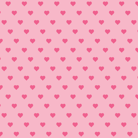 Heart background vector pattern - St Valentines day illustration repeating hearts popular love heart decor inspiration idea 写真素材 - 116290828