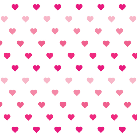 Heart background vector pattern - St Valentines day illustration repeating hearts popular love heart decor inspiration idea 写真素材 - 116290840