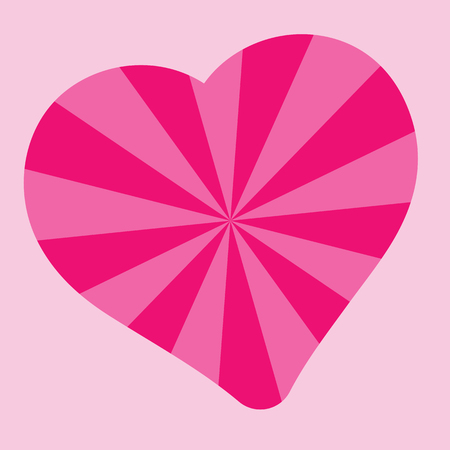 Heart pattern radiation, concentration line, radial, pink valentine's day vector, mother's day