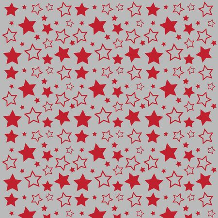 Abstract pattern of bright stars. Background vector for Christmas and New Year greeting card, celebration invitation, packaging design, illustration or banner Stock Illustratie