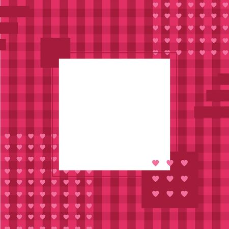 Pink heart background with empty place for text, greeting card for Valentines day, wedding, mothers day, copy space  イラスト・ベクター素材