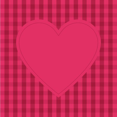 Pink background with empty heart shape for text, greeting card for Valentines day, wedding, mothers day, copy space  イラスト・ベクター素材