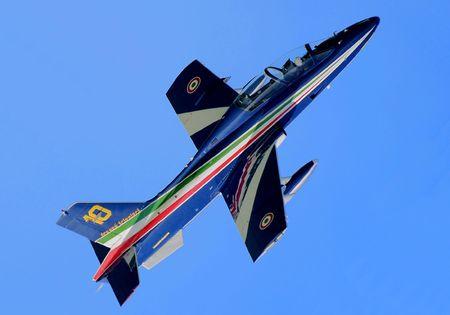 aviators: Number 10: Frecce Tricolori Solo Stock Photo