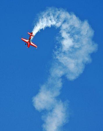 aviators: Prop Display; Question mark Stock Photo