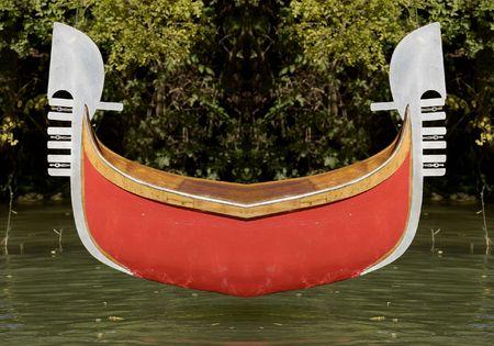 humoristic: Mirrored Gondola Stock Photo