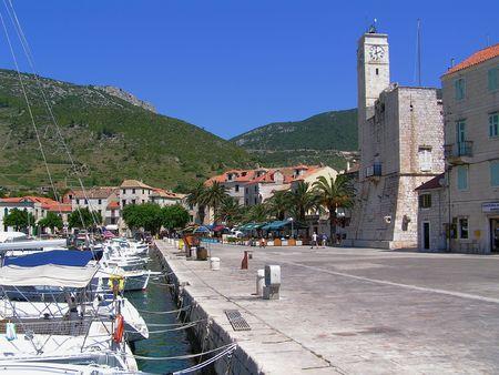Croatia: Vis Island, Komiza Harbor photo