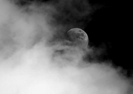 gloomy: Gloomy Moon Stock Photo