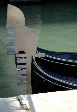 prow: Venice: Gondolas Prow Stock Photo