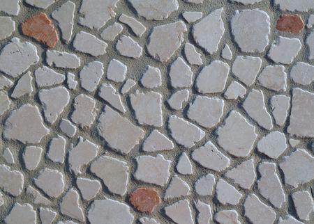 Polished rocks floor background photo