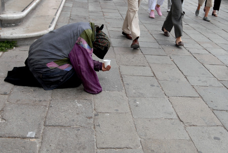 panhandler and unthinking people