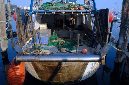 Fishing boat stern photo