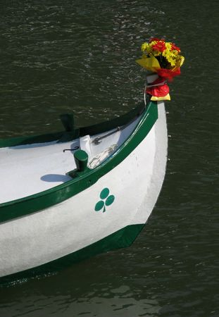 woodcraft: Decorated boat prow