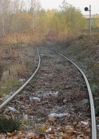 forgotten: Forgotten Railway Stock Photo