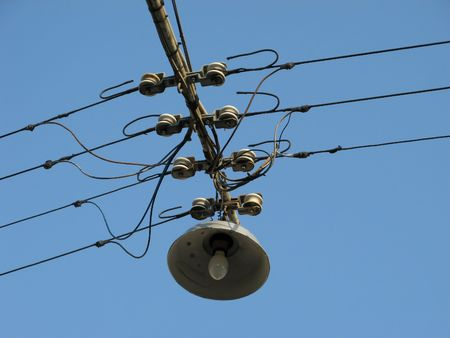 linkage: Old Streetlamp Stock Photo