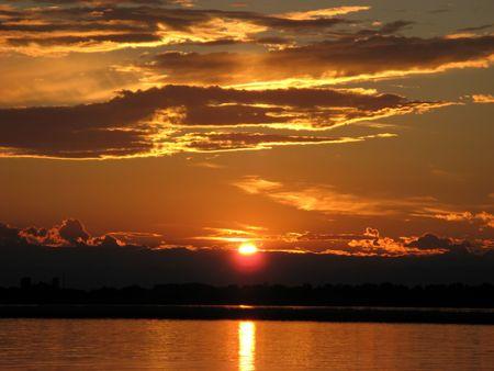 sunup: Sunset over lagoon