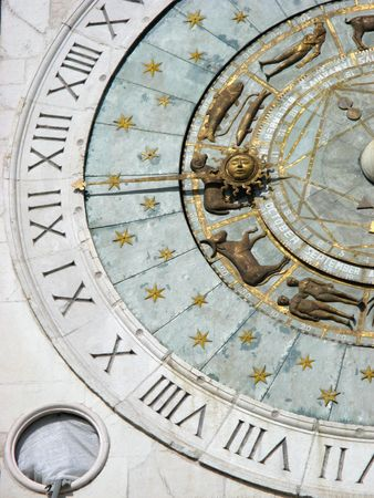 Padua: Zodiacal Wall Clock Stock Photo - 2360464