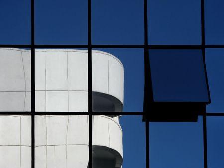 bedrijfshal: Bedrijfsgebouw abstracte reflecties