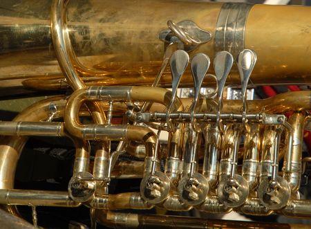 trombon: Tromb�n Detalle  Foto de archivo