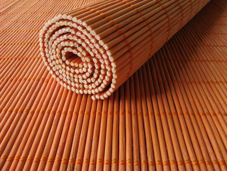 Bamboo wooden placemats Stock Photo