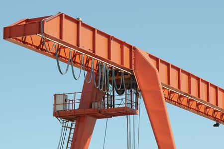 hefty: Girder in a shipyard