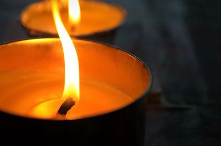 romaticism: Candles closeup