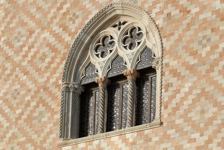 ducale: Venetian gothic example on Ducale Palace facade Stock Photo
