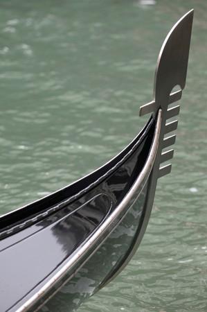 prow: Gondola prow Stock Photo