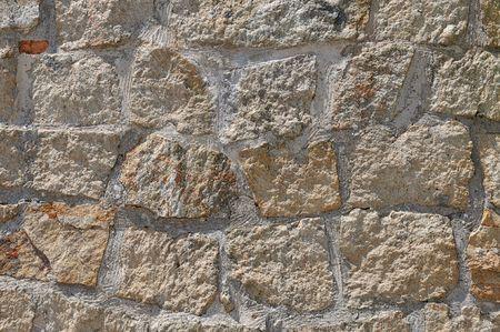 ponderous: Stone wall Stock Photo