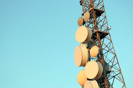Telecommunication tower Standard-Bild