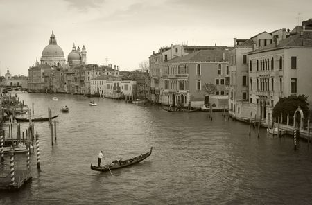 Venice: Canal Grande viewed from Accademia bridge photo