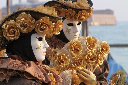 Venice carnival masks photo