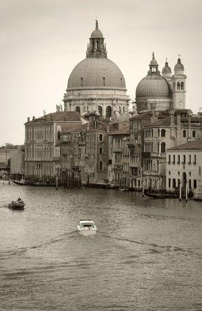 Venice, discolored: Church along Grand Canal photo