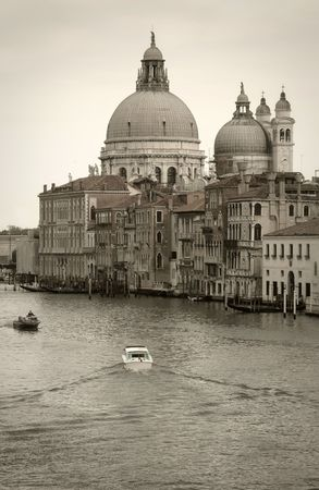 Venice, discolored: Church along Grand Canal photo