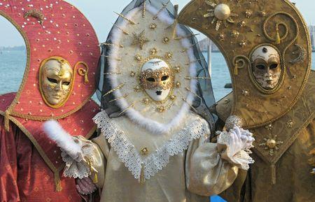 mascaras de carnaval: M�scaras de Carnaval de Venecia  Foto de archivo